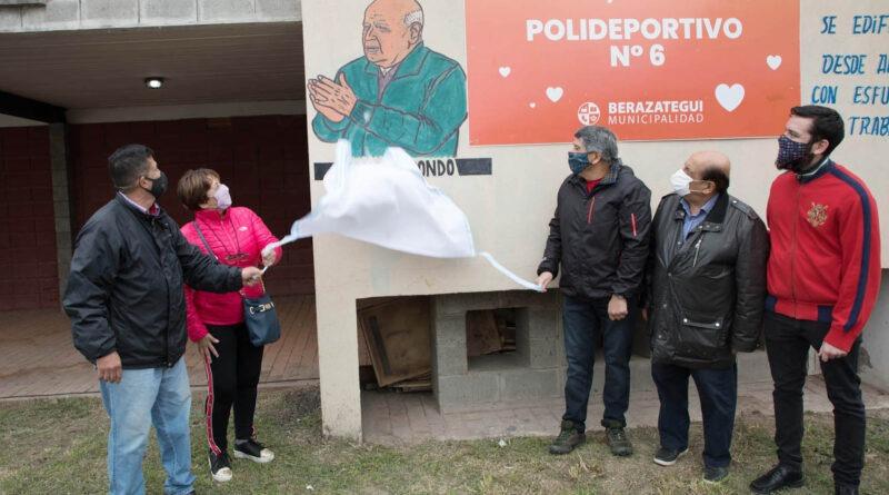 El Polideportivo N°6 lleva el nombre de Oscar Arrondo